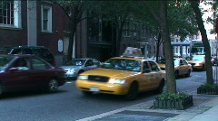 Stock Video Footage of Traffic Upper West Side