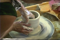 Stock Video Footage of potters wheel