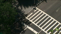 Traffic at a crosswalk Stock Footage