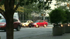 NYC Traffic cars, cabs and trucks - stock footage