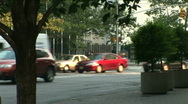NYC Traffic cars, cabs and trucks Stock Footage