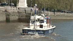 Thames River Police 1  London U.K. (Lon016) Stock Footage