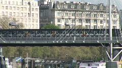 Pull out from Waterloo Bridge London U.K. (Lon014b) Stock Footage