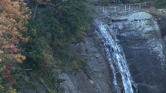 Chimney Rock Waterfall - zoom out Stock Footage