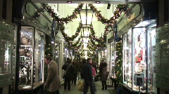 Christmas shopping London - stock footage