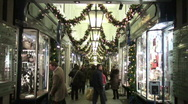 Christmas shopping London Stock Footage