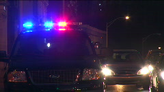 Traffic Lights and police Stock Footage