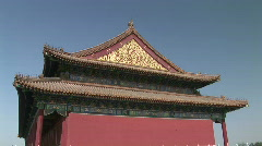 Classic Chinese Architecture in the Forbidden City in Beijing, China Stock Footage