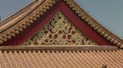 Chinese Palace Rooftop Stock Footage