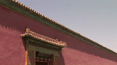 Entrance and Wall Surrounding Forbidden City Stock Footage