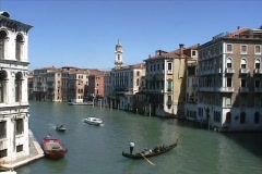 Gondola in Venice, Italy's grand canal - stock footage