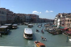 Boat traffic in Venice, Italy Stock Footage