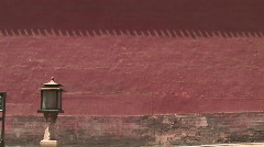 Red Wall Surrounding Forbidden City Stock Footage