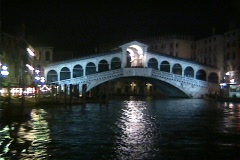 Rialto Bridge at Night Stock Footage