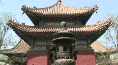Stock Video Footage of Lama Temple Pagoda and Incense Burner