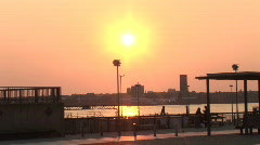Sunset River Mersey, Liverpool (Liv009) Stock Footage