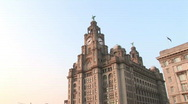 Wide Pan L2R from Liver Building (Liv010) Stock Footage
