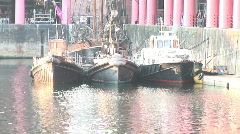 Pull out from Fishing boats to Albert Dock (Liv023) Stock Footage
