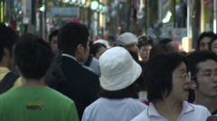 Stock Video Footage of Tokyo shopping arcade