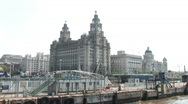 Stock Video Footage of Mersey Ferry Leaving Liverpool (Liv033)