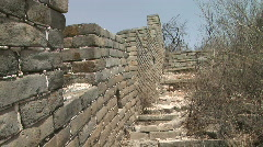 Original Section of the Great Wall of China Near Jinshanling, China Stock Footage