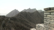 Original Section of the Great Wall of China Stock Footage