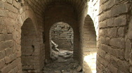 Interior of Tower on Original Section of the Great Wall of China  Stock Footage