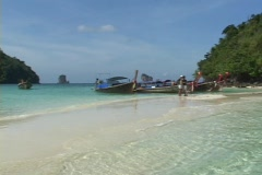 Thailand: Beach shots in Southern Thailand Stock Footage