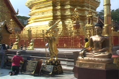 Thailand: Buddhist Temple near Chaing Mai Stock Footage