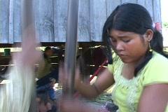 Cambodia: Pounding rice - stock footage