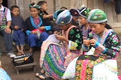 Laos: Listening to Radio Stock Footage