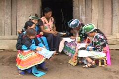 Laos: People listen to radio Stock Footage