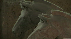 Terra Cotta Horses in Xian, China - Terracotta Horses - stock footage