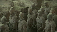 Terra Cotta Warriors in Xian, China - Terracotta Soldiers - stock footage