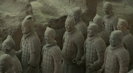 Terra Cotta Warriors in Xian, China - Terracotta Soldiers Stock Footage