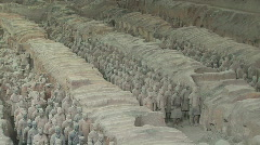 Terracotta Soldiers aka Terra Cotta Warriors in Xian, China - stock footage