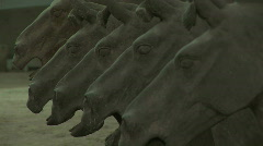 Row of Terra Cotta Horses in Xian, China - Terracotta Horses - stock footage