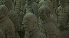 Ancient Terra Cotta Warriors aka Terracotta Soldiers in Xian, China - stock footage