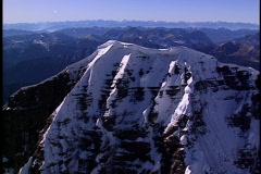 Mountain Peak fly around 1 Stock Footage