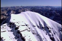 Mountain Peak fly around 2 Stock Footage