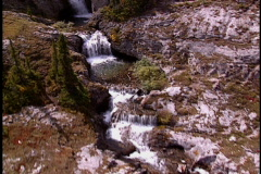 Waterfalls fly over 2 - stock footage
