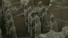 Terra Cotta Warriors in Profile - stock footage