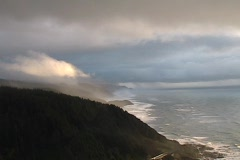 Storm Clouds Over the Ocean at Cape Perpetua Stock Footage