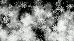 Snow Flake Background Stock Footage