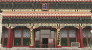 Painted Exterior of Summer Palace Stock Footage