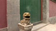 Ceramic Dragon Guarding Door Stock Footage
