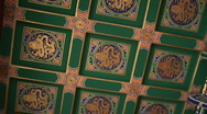 Stock Video Footage of Ornate Painted Chinese Ceiling