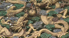 Dragon Architectural Detail in Beijing, China Stock Footage