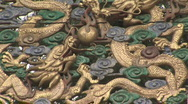 Stock Video Footage of Dragon Architectural Detail