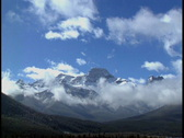 Stock Video Footage of Mount Lougheed and clouds 7